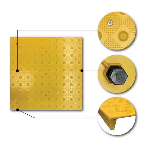 Replaceable Herculite Transit Tiles