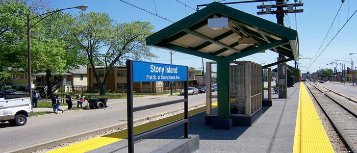 At Grade Transit Boarding Platform